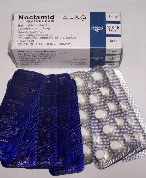 Noctamid (Lormetazepam) 1mg