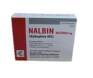 Nalbin (Nalbuphine HCL) 20mg/1ml injection